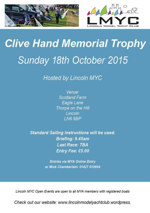 Clive Hand Memorial 2015 Poster